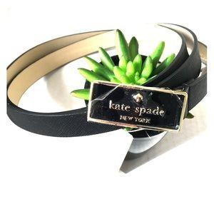 ♠️NEW Kate Spade In the loop black leather belt